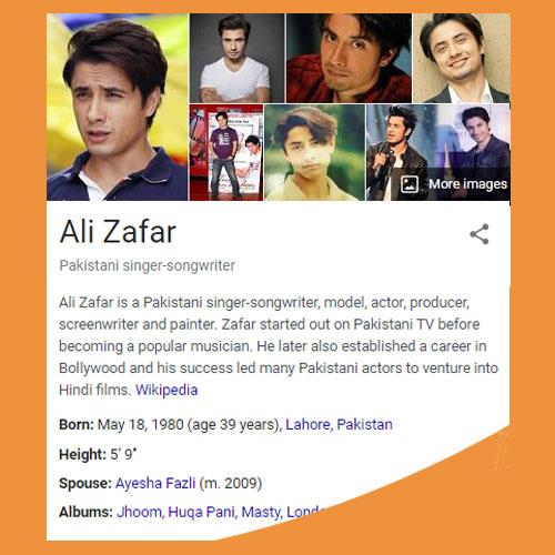 Ali Zafar Biography