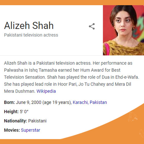 Alizeh Shah Biography