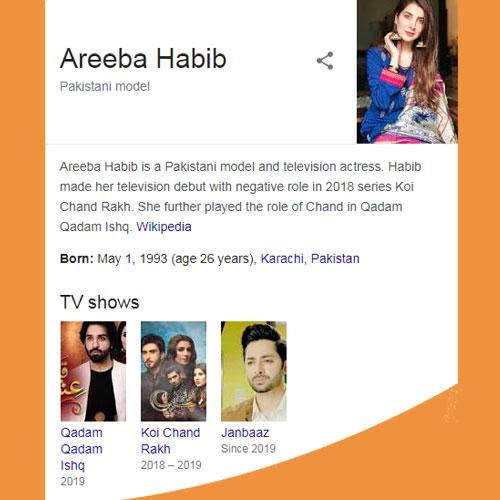 Areeba Habib Biography