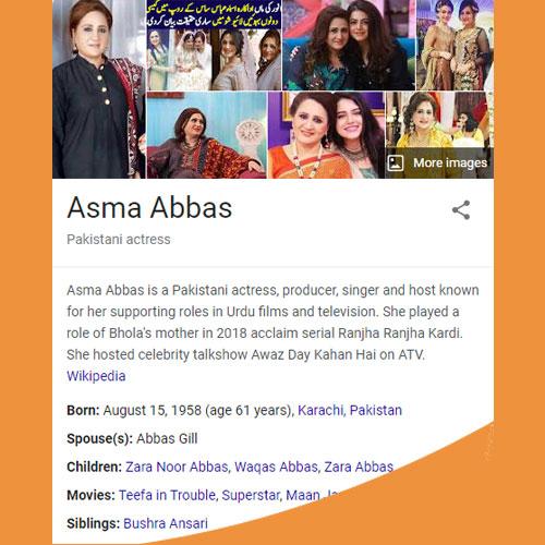 Asma Abbas Biography