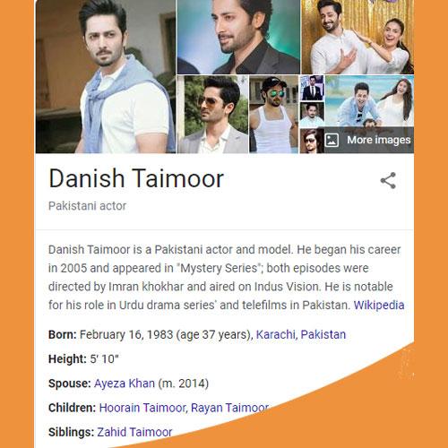 Danish Taimoor Biography