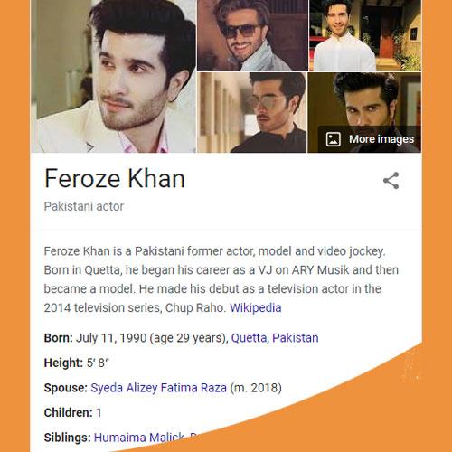 Feroze Khan Biography