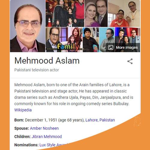 Mehmood Aslam Biography