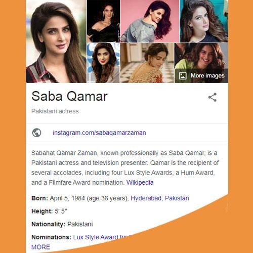 Saba Qamar Biography