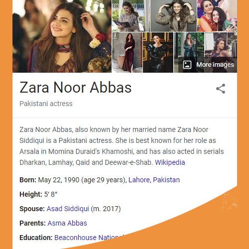 Zara Noor Abbas Biography