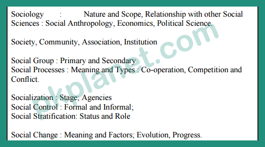 BA Sociology guess paper 2018
